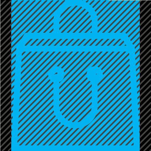Modrá ikona papírové nákupní tašky